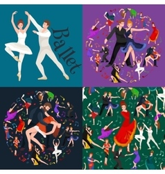 Dancing People Dancer Bachata Hiphop Salsa vector image vector image