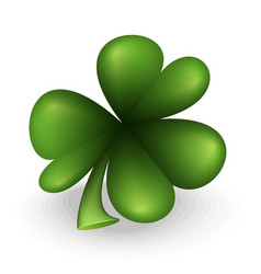 Green clover leaf vector
