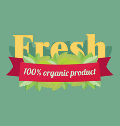 Label elements for organic food and drink organic vector