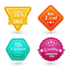 Sale signs and symbols set vector image
