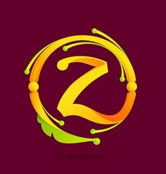 Z letter monogram design elements vector