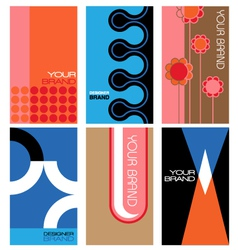 1960s inspired graphics set vector image vector image