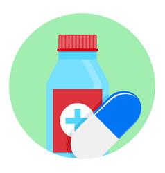 medicine icon app vector image
