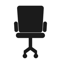 office chair silhouette icon vector image