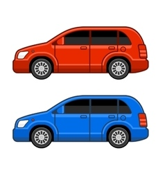 Universal different color car set vector