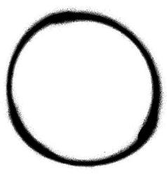 Graffiti circle spray design element in black vector