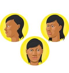 Head African American Woman vector image vector image