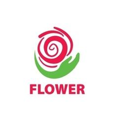 logo floral vector image vector image