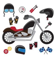 Motorcycle set vector image