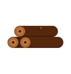 Stack of nine wooden logs firewood lumber tree cut vector image vector image