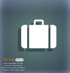 suitcase icon symbol on the blue-green abstract vector image vector image