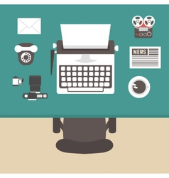374retro workspace vector image