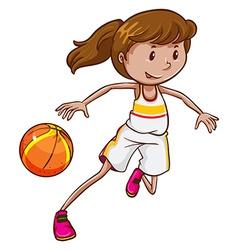 A basketball player vector
