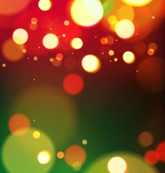 Abstract christmas lights background vector