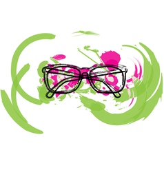 Abstract Eyeglasses vector image vector image