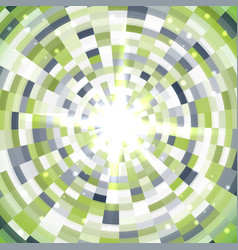 abstract green round mosaic background vector image