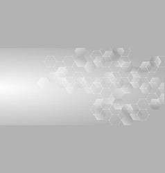 Abstract technology or medical concept white vector