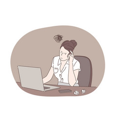 Anxiety fatigue business concept vector