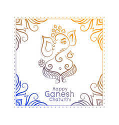 Artistic lors ganesha festival ganesh vector