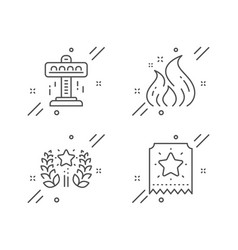 Attraction ranking and fire energy icons set vector