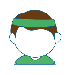 Avatar boy icon vector
