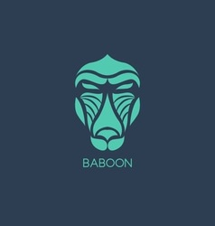 Baboon logo vector image