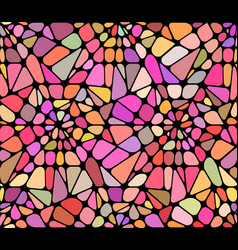Background with a red broken stained glass vector