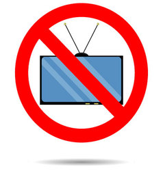 Ban TV icon vector image vector image