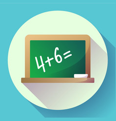 Blackboard icon welcome back to school theme flat vector