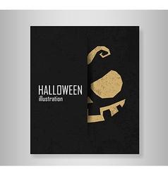 Book Halloween Typographical Background vector