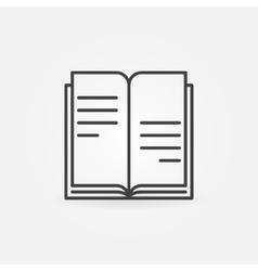Book icon or logo vector image