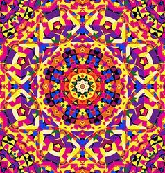 bright circular kaleidoscope pattern vector image