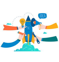 Business project startup process vector