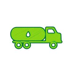 Car transports oil sign lemon scribble vector