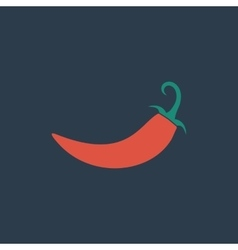 chilli pepper icon vector image