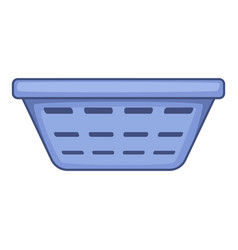 clothes basket icon cartoon style vector image