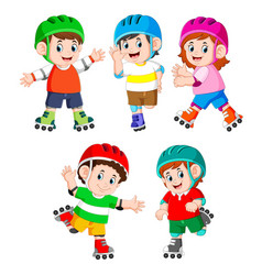 collection children playing vector image