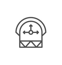 Engineering calculation line icon vector