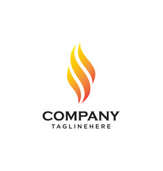 fire flame logo design template vector image