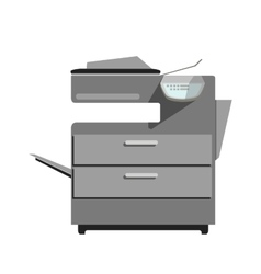 Flat printer copy machine vector