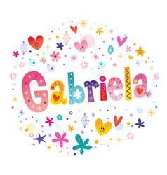 Gabriela girls name vector