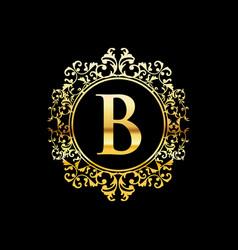 Gold luxury logo design vector
