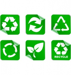 green environment and recycle icons vector image