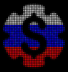 Halftone russian financial settings gear icon vector