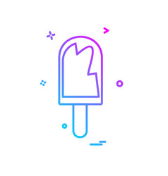 ice lolly icon design vector image