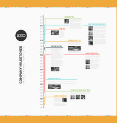 Infographic multi timeline report template vector