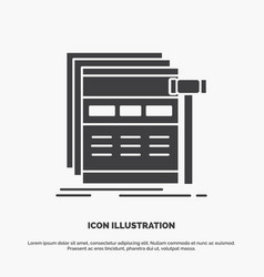 Internet page web webpage wireframe icon glyph vector