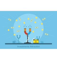 investments vector image