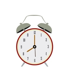 Isolated retro alarm clock vector