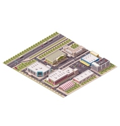 Isometric shopping district vector